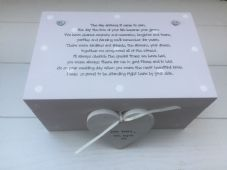 Shabby Personalised Chic Gift For Bride On Wedding Day From Bridesmaid Keepsake - 332097240346